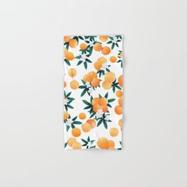 Orange Twist Flower Vibes #6 #tropical #fruit #decor #art #society6 Hand & Bath Towel
