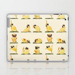Pug Yoga Watercolor Laptop & iPad Skin