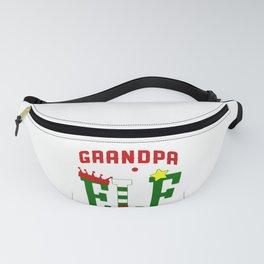 Mens Grandpa Elf Christmas - Grandparents Gift Fanny Pack