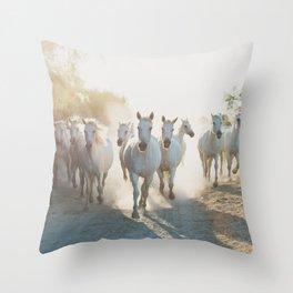 Camargue Horses XIII Throw Pillow