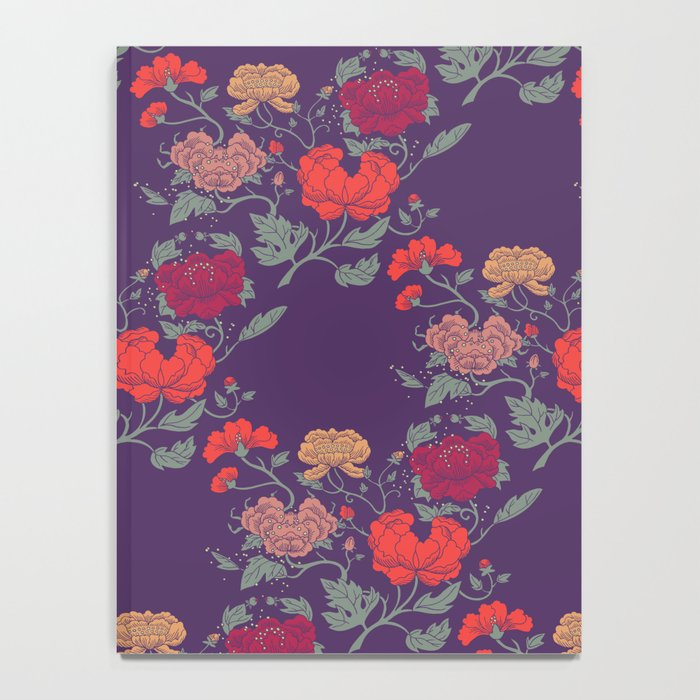 Recolour Peonies Notebook