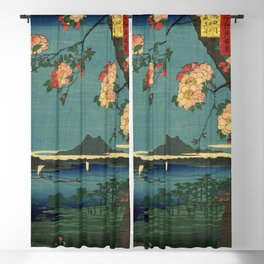 Ukiyo-e, The Grove at the Suijin Shrine Blackout Curtain