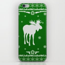 Supernatural Sam Holiday Sweater iPhone Skin