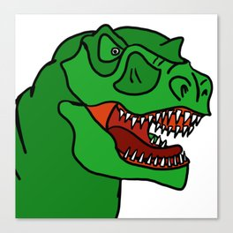 Green T-Rex Canvas Print