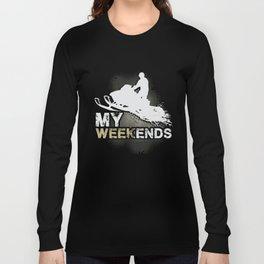 Snowmobile Weekends Long Sleeve T-shirt