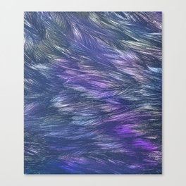 Abstract Indigo Waves Canvas Print