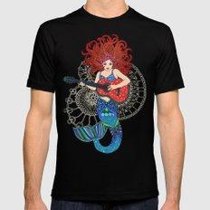 Musical Mermaid Black X-LARGE Mens Fitted Tee