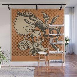 Bat Cat and Candle Wall Mural