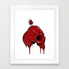 Blood Crown Framed Art Print