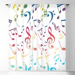 Musical Notes 5 Blackout Curtain