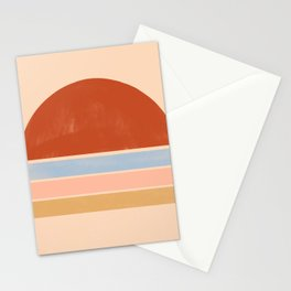 autumn sunset Stationery Cards