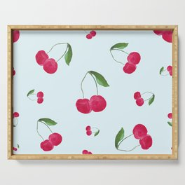 Sweet Cherry Pattern Serving Tray
