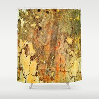 cracked Shower Curtains featuring Cracked Wall by Robin Curtiss