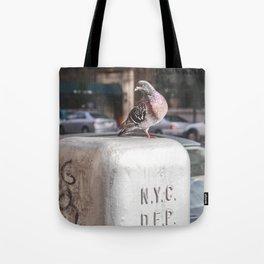 NYC Pigeon Tote Bag