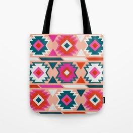 Kilim Abundance Pattern  - Blush & Teal Palette Tote Bag