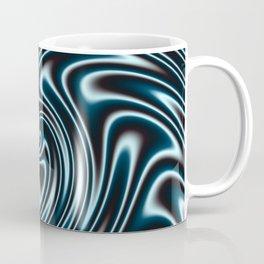 Blue and Black Licorice Ribbon Candy Fractal Coffee Mug