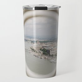 bird's eye view of Budapest Travel Mug
