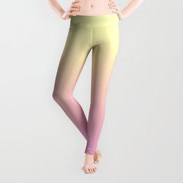 PEACH DREAMS - Minimal Plain Soft Mood Color Blend Prints Leggings