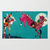 dogs Area & Throw Rugs featuring dogs by Alvaro Tapia Hidalgo