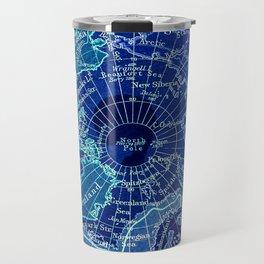 North Pole Neon Map Travel Mug
