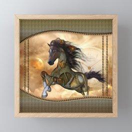 Steampunk, awesome steampunk horse Framed Mini Art Print