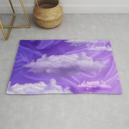 """Violet pastel sweet heaven and clouds"" Rug"