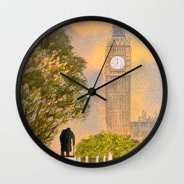 Winston Churchill And Big Ben Wall Clock