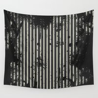 stripe Wall Tapestries featuring Stripe by Ronda Bröc
