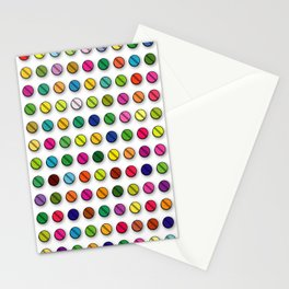 Multi-coloured Pills Pattern square Stationery Cards