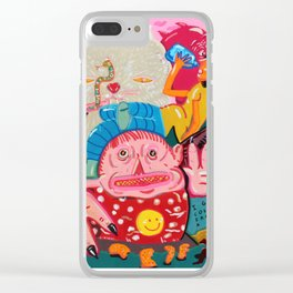 tanned demons Clear iPhone Case