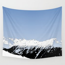 Mountains essentials - Snow and bright sky Wall Tapestry