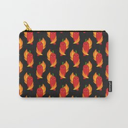 Red chili peppers and fire Carry-All Pouch