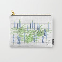 Fortissimo Fern & Flat Lupine Carry-All Pouch