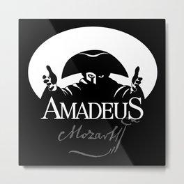 Mozart-Amadeus-Music-Classical-Piano-Composer-Musician Metal Print