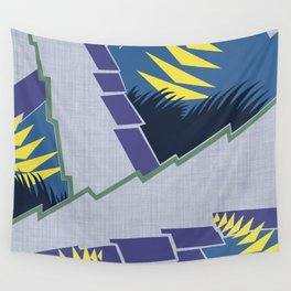 AGONDA Art Deco Modern: MORNING BLUEBIRD Wall Tapestry