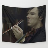 sherlock Wall Tapestries featuring Sherlock by LucioL