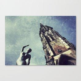 Ruined WW2 Church Canvas Print