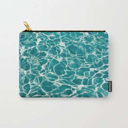 Turquoise Poolside Reflections Carry-All Pouch