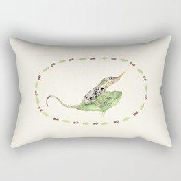 The Horned Anole Rectangular Pillow