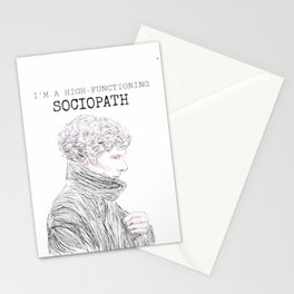 I'm a high functioning sociopath Stationery Cards