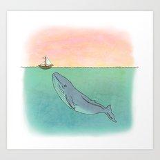 Gentle Whale  Art Print