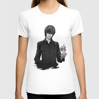 death note T-shirts featuring Light Yagami Kira Death Note apple by Cursed Rose
