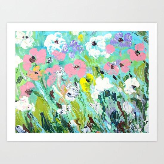 Breezy Spring Flowers Art Print