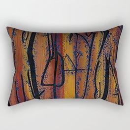 Brown Wood Rectangular Pillow