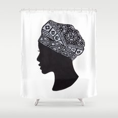 The Exotic of Turban Woman Shower Curtain