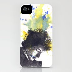 Portrait of Bob Dylan in Color Splash Slim Case iPhone (4, 4s)