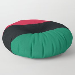 Afro-American / Pan-African / UNIA Flag Floor Pillow