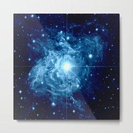 Turquoise Galaxy Star Metal Print