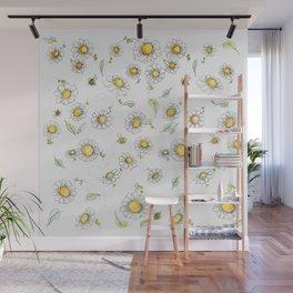 Bees and Daisies Wall Mural