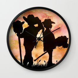 Little Horse Lovers Wall Clock